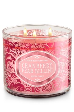 CRANBERRY PEAR BELLINI 3-Wick Scented Candle
