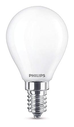 Philips Bombilla LED E14, 2.2 W equivalentes a 25 W en incandescencia, luz blanca
