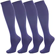 NOVAYARD 4 Pairs Compression Socks for Women and Men Support Graduated 15-20 mmHg Medias De Compresion Mujer