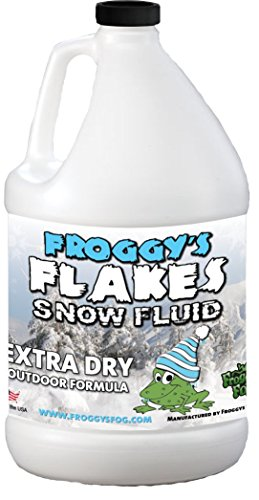 Snow Flurry Effect Machine - Extra Dry Snow Juice - Snow Machine Fluid - Most Popular Evaporative Formula - 1 Gallon - Great for Use in 400-2000 Watt Snow Machines