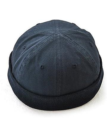 bf408b7243ea8 ZYT Hombre Todas Las Temporadas Vintage Casual Algodón Gorro Boina Francesa  Bombín Cloche Sombrero Fedora