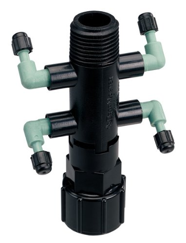 5 Pack - Orbit Drip System Shrub Adapter 4-Port Watering Manifold for 1/4 Inch - Kit Shrub Drip