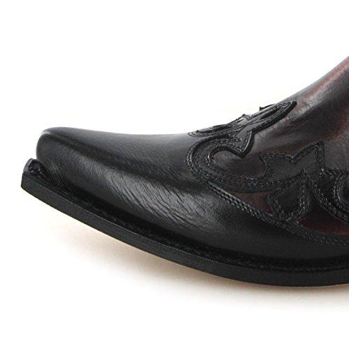 Adultos 9396 Sendra varios de Botas vaquero Rojo colores Botas de Unisex Negro wTaxEH