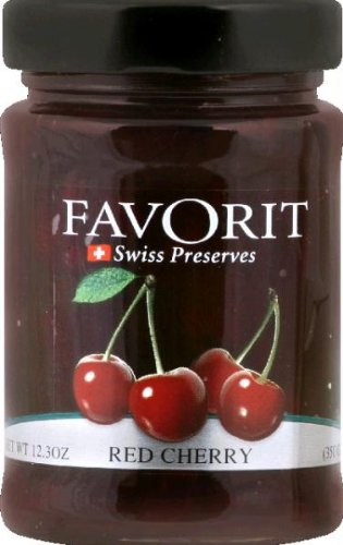 Favorit Preserve Red Cherry, 12.3 - Favorit Cherry Red