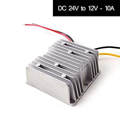 DC 24v to DC 12v Step Down 10A 120W Truck Car Power Supply Adapter Converter Reducer Regulator for Auto Truck Vehicle Boat Solar System etc.(DC15-40V Inputs): Home Audio & Theater