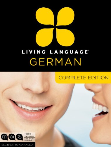 Living Language German, Complete Edition: Beginner through advanced course, including 3 coursebooks, 9 audio CDs, and free online learning cover