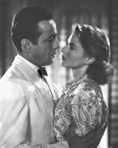 "Humphrey Bogart and Ingrid Bergman in Film Classic /""Casablanca/"" New 8x10 Photo"