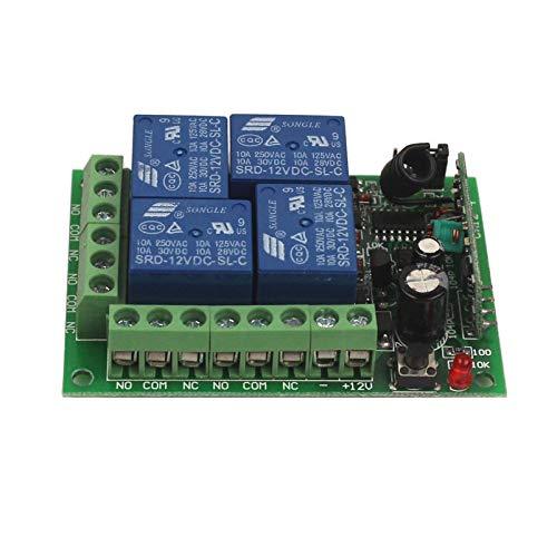 Amazon com: 12V 4CH Channel Relay RF Wireless Remote Control