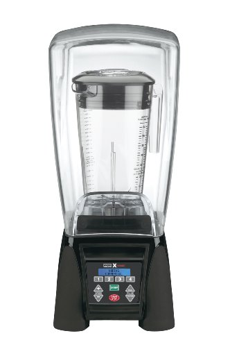 Waring Commercial MX1500XTX Reprogrammable Hi-Power Blender with Sound Enclosure and Raptor Copolyester Container, (Blender Sound Enclosure)