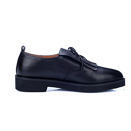 Minivog Amandel Teen Platte Platform Dames Loafer Schoenen