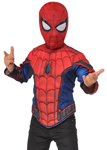[Imagine by Rubies Spider-Man Homecoming Muscle Chest Shirt Set, Small] (Spiderman Mask For Toddlers)