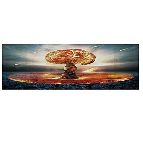 War Home Decor Microwave Oven Cover with 2 Storage, used for sale  Delivered anywhere in USA