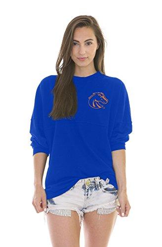 NCAA Boise State Broncos Women's Jade Long Sleeve Football Jersey, Royal Blue, Large