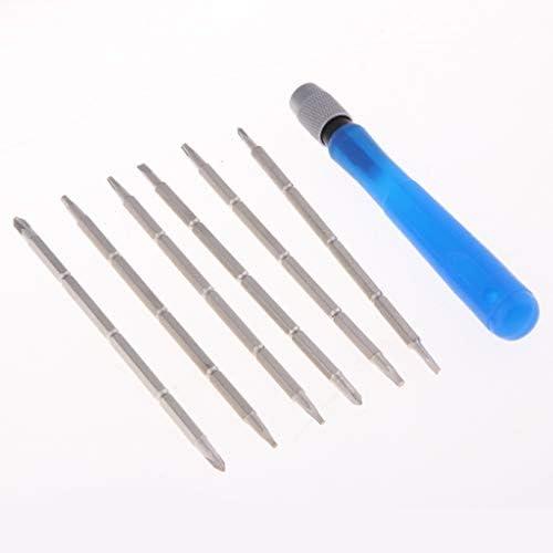Almencla 7ピース 交換可能 携帯電話用 家庭用 DIY ミニ 修理ツールキット 修理キット(シャンク付き)