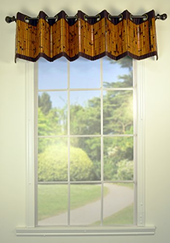 (Versailles Home Fashions Bamboo Valance, 72 by 12-Inch, Espresso)