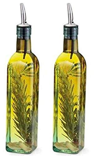 $12.90 Tablecraft (9085) 8.5 oz. Olive Oil Cruet with Pourer - Pack of 2
