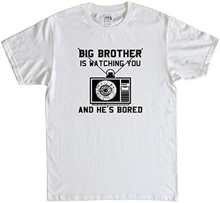 big brother is watching you 映画 Tシャツ メンズ/レディース Tシャツ 夏服 スポーツ トップス 半袖 柔らかい 無地 通気性 ファッション ゆったり