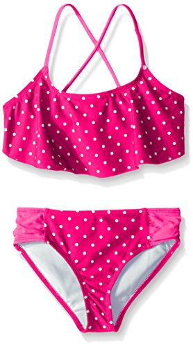 Kanu Surf Big Girls Chloe Flounce Bikini Swimsuit, Pink, 12
