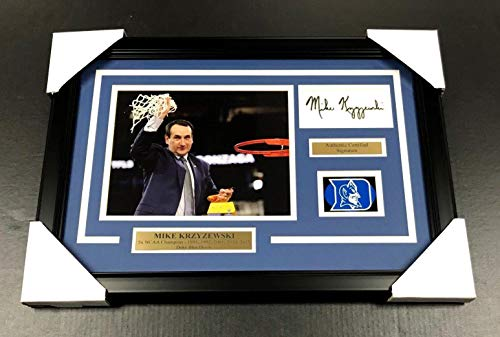 (Mike Krzyzewski Signed Picture - COACH K 8X10 FRAMED - Autographed College Photos)