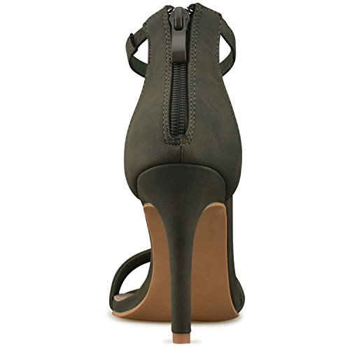 Women's Party Pump Premier Kitten Strappy Heel Wedding Olive Classic Formal Standard Green High Simple Z8Pxw5HP