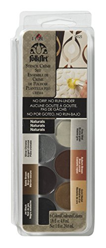 FolkArt Stencil Creme Set, 34125 Naturals - Dry Brush Stencil Paint