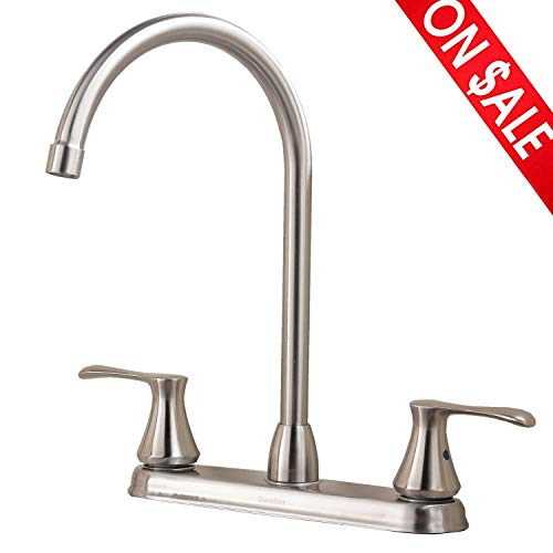 Comllen Best Commercial Stainless Steel Single Handle Single Hole Brushed Nickel Pull Out Spray...