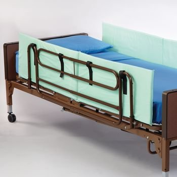 Rolyan Side Rails, Foam Padded Bed Walls to Protect from Falling, For Full Size Beds, 72