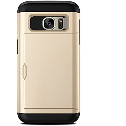 Galaxy S7 Case. Slim Wallet Cover for Samsung Galaxy S7 (Champagne) Sales