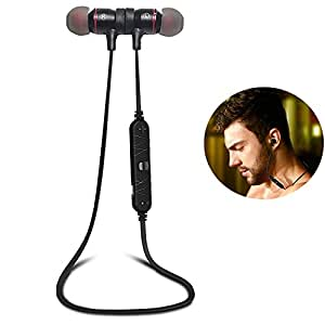 bluetooth headphones magnet attraction v4 0 wireless earbuds in ear noise reduction. Black Bedroom Furniture Sets. Home Design Ideas