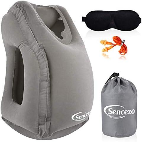Amazon.com: Almohada hinchable de viaje ayuda para dormir ...
