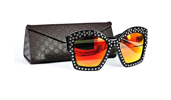 563e711d61 Amazon.com  Gucci GG 3870 S Y6CTR (Black with Grey with Mirror effect  lenses)  Clothing