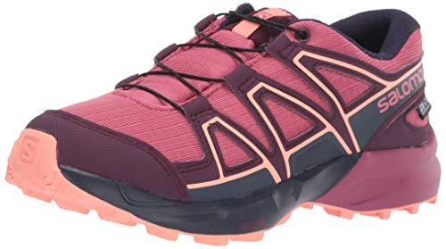 Salomon Kid's SPEEDCROSS CSWP J Athletic Shoe, malaga/potent purple/desert flower, 6 Standard US Width US Big Kid (Best Desert Boots 2019)