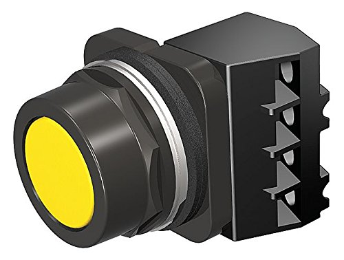 (Siemens 52PX8A4J Heavy Duty Pushbutton Unit and Assembled Contact Blocks, Black Max Corrosion Resistant, Flush Cap, Yellow, 1 NC Contact Blocks)