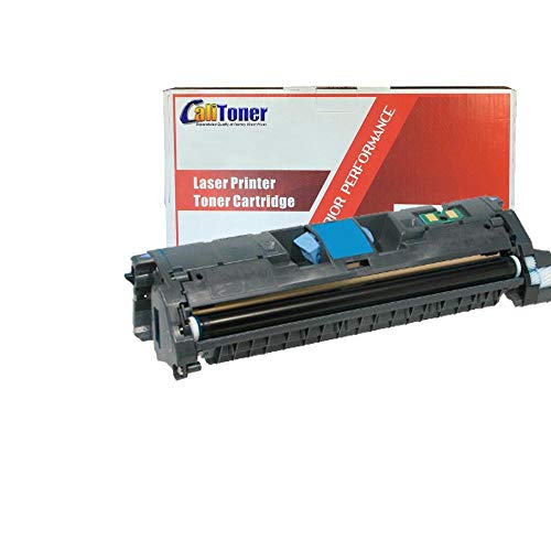 Calitoner Remanufactured Laser Toner Cartridge Replacement for HP C9701A (121A) - Cyan