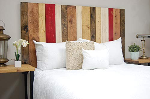 Fall Mix Headboard King Size, Hanger Style, Handcrafted. Mounts on Wall. Easy Installation