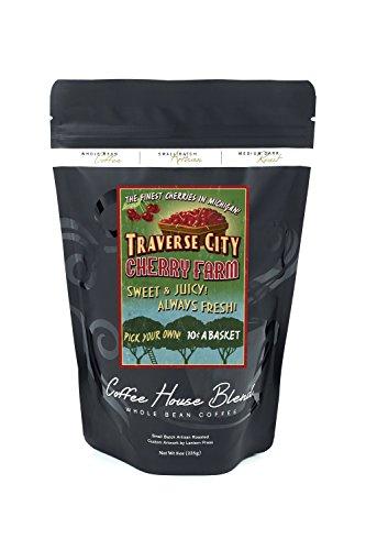 Traverse City, Michigan - Cherry Farm Vintage Sign (8oz Whole Bean Small Batch Artisan Coffee - Bold & Strong Medium Dark Roast w/ - In City Stores Traverse