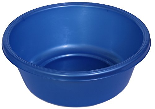(YBM HOME Round Plastic Wash Basin (1151 13 inch, Blue))