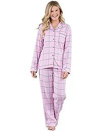 Soft Flannel Pajamas Women - Button Front Cotton Pajamas Women