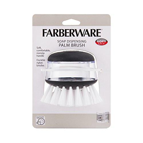 Farberware Soap Dispensing Palm Brush, Black - 3
