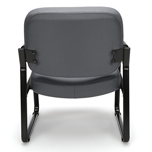 OFM Core Collection Big and Tall Guest and Reception Chair with Arms, in Gray 407-801