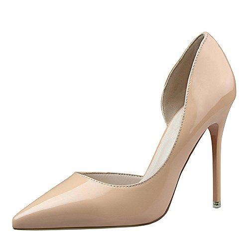 Escarpins Femmes à Talons, Mince Chaussures à Talons pour Femmes à Bouts Ronds Confortables Chaussures Mode, Féminine Élégant Chaussures de Soirée Élégantes pour Femme Marron