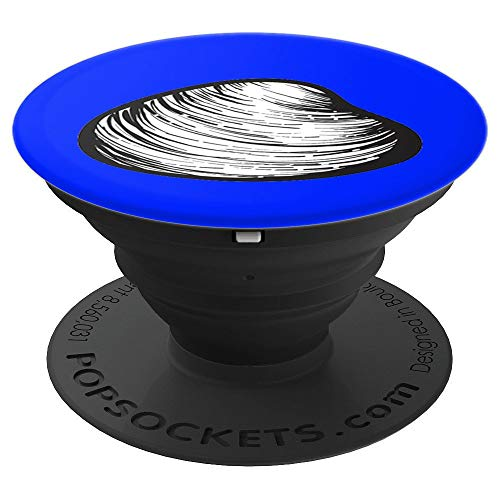 - Quahog Clam Shell Shellfish New England Clam Chowder - PopSockets Grip and Stand for Phones and Tablets