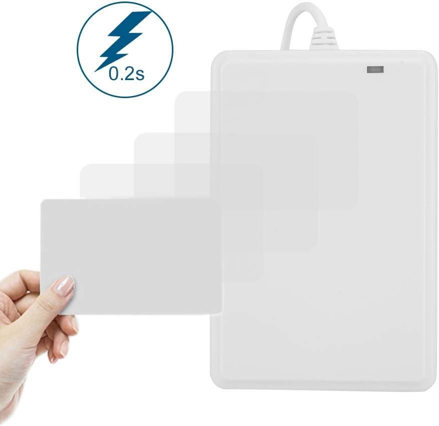 Door Card Reader IC//ID Card Non-Contact USB Drive-Free NFC Door Access Card Reader Smart ID Card Reader Door Access Control Sensor 125Khz ID Card