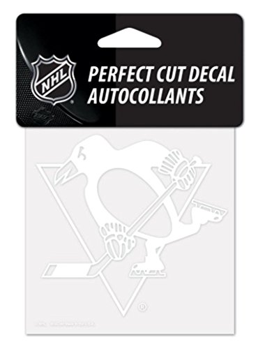 """WinCraft NHL Pittsburgh Penguins 42324010 Perfect Cut Decal, 4"""" x 4"""", White"""