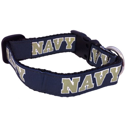 NCAA Navy Midshipmen Dog Collar (Team Color, Small)