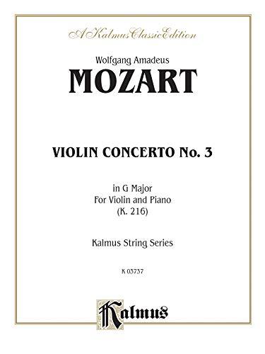 Violin Concerto No. 3 in G Major, K. 216 (Kalmus Edition)