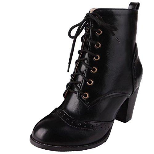 AIYOUMEI Women's Classic Boot Black JOW2En5