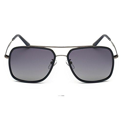 A-Royal Classic Retro Reflective Lens Metal Frame Wayfarer Sunglasses(C2)