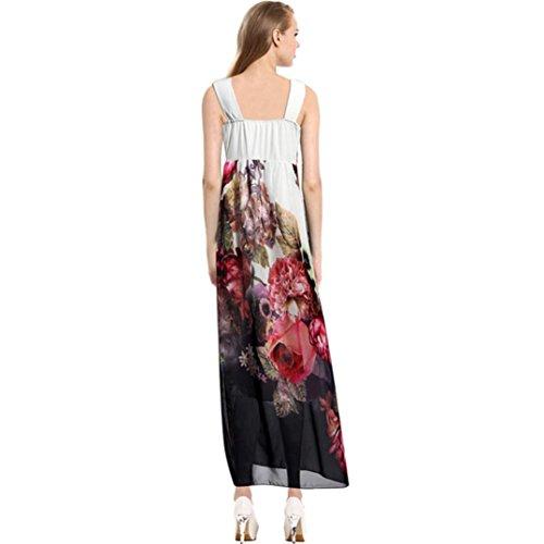 Soirée Florale Été Koly Les Dames Des Femmes Casual Manches Partie Longue Robe