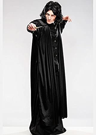 Magic Box Adulto para Hombre Professor Snape Style Costume con Peluca
